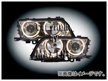 エムイーコーポレーション ZONE キセノンヘッドライト/4-ホワイトリングライト付 タイプ-1 品番:231624 BMW E46 セダン ~2001年