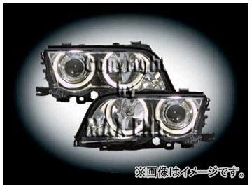 エムイーコーポレーション ZONE ツインキセノンヘッドライト/4-クリスタルホワイトリングライト付 タイプ-1 品番:231632 BMW E46 セダン ~2001年