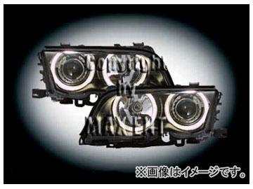 エムイーコーポレーション ZONE Bi-キセノンヘッドライト/4-クリスタルホワイトリングライト付 タイプ-1 品番:290233 BMW E46 セダン ~2001年