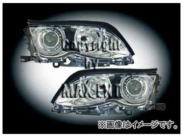 エムイーコーポレーション ZONE ツインキセノンヘッドライト/4-ホワイトリングライト付 タイプ-2 品番:233025 BMW E46 セダン 2002年~2004年