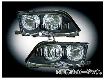 エムイーコーポレーション ZONE Bi-キセノンヘッドライト/4-CCFLリングライト付 タイプ-3 品番:291053 BMW E46 セダン 2002年~2004年