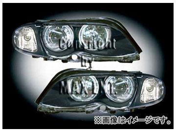 エムイーコーポレーション ZONE Bi-キセノンヘッドライト/4-CCFLリングライト付 タイプ-3+ウィンカーセット 品番:291061 BMW E46 セダン 2002年~2004年