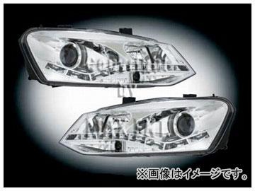 エムイーコーポレーション ZONE キセノンヘッドライト/デーライトルック LEDポジションライト付 タイプ-1 品番:291406 フォルクスワーゲン ポロ 6R 2010年~