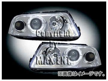 エムイーコーポレーション ZONE Bi-キセノンヘッドライト/2-LED-クリスタルホワイトリングライト付 タイプ-2 品番:290401 フォルクスワーゲン パサート B5 3BG