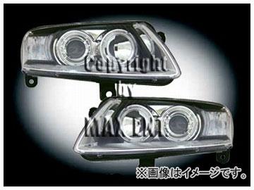 エムイーコーポレーション ZONE ツインキセノンヘッドライト/4-ホワイトリングライト付 タイプ-1 品番:290841 アウディ A6 C5 2002年~2004年