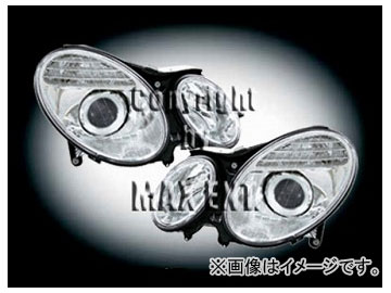 エムイーコーポレーション ZONE Bi-キセノンヘッドライト '07-ルック タイプ-2+Hi-ビームキセノン付 品番:291320 メルセデス・ベンツ W211 Eクラス ~2006年