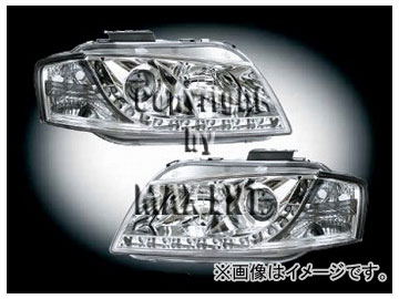 エムイーコーポレーション ZONE キセノンヘッドライト/LEDポジションライト付 タイプ-3 品番:291374 アウディ A3 8P ハッチバック/スポーツバック ~2008年