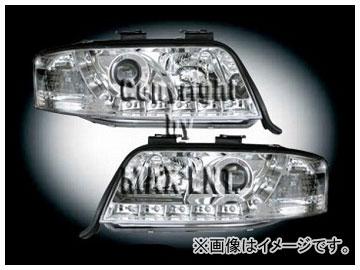 エムイーコーポレーション ZONE ハロゲンヘッドライト/LEDポジションライト付 タイプ-2 品番:291382 アウディ A6 C5/4B セダン/ワゴン 2002年~