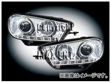 エムイーコーポレーション ZONE ツインキセノンヘッドライト/LEDポジションライト付 タイプ-1 品番:291325 フォルクスワーゲン シロッコ