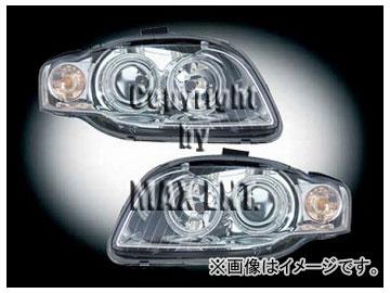 エムイーコーポレーション ZONE ハロゲンヘッドライト/4-ホワイトリングライト付 タイプ-1 品番:290821 アウディ A4 8E 2005年~2007年