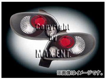 エムイーコーポレーション ZONE テールレンズ クリアー/ブラック タイプ-5 品番:210554 プジョー 206C.C.