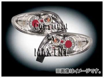 エムイーコーポレーション ZONE LEDテールレンズ クリアー/クロム リボルバー-ルック タイプ-9 品番:210564 プジョー 206C.C.