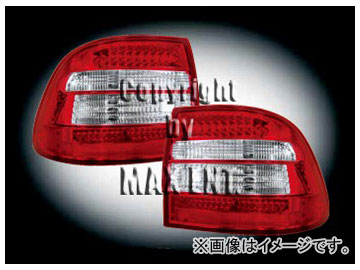 エムイーコーポレーション ZONE LEDテールレンズ レッド/クリスタルクリアー/レッド タイプ-1 品番:211647 ポルシェ カイエン955 ~2006年
