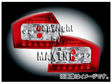 エムイーコーポレーション ZONE LEDテールレンズ レッド/クリアー/レッド タイプ-5 品番:210494 アウディ A4 8E/B6 セダン ~2004年