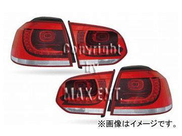"""エムイーコーポレーション OE Parts Golf6 """"R""""デザイン LEDテールレンズ Type-3 品番:210907 フォルクスワーゲン ゴルフ6 ハッチバック 2009年~"""