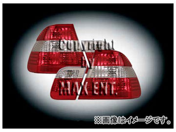 エムイーコーポレーション OE Parts テールレンズ クリスタルレッド/クリアー/レッド M-ルック 純正品質 品番:210228 BMW E46 セダン 2002年~