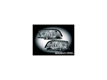 エムイーコーポレーション ZONE キセノンヘッドライト/4-CCFLリングライト付 タイプ-3 品番:291129 BMW E46 クーペ ~2001年