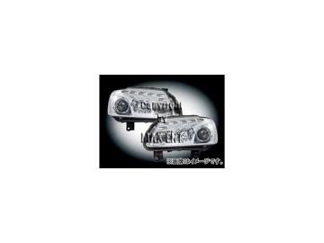 エムイーコーポレーション ZONE ツインキセノンヘッドライト/LEDポジションライト付 タイプ-1 品番:291323 フォルクスワーゲン ゴルフトゥーラン 1TB ~2006年