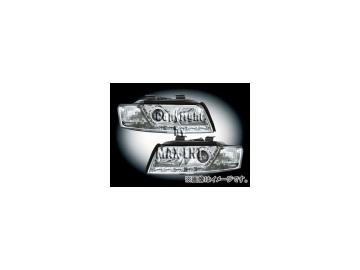 エムイーコーポレーション ZONE ツインキセノンヘッドライト/LEDポジションライト付 タイプ-4 品番:291378 アウディ A4 8E/B6 セダン/ワゴン ~2004年