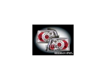 エムイーコーポレーション ZONE LEDテールレンズ クリアー/クロム リボルバー-ルック タイプ-7 品番:210837 BMW E36 セダン