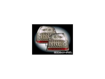エムイーコーポレーション ZONE LEDテールレンズ クリアー/クロム タイプ-6 品番:210680 フォルクスワーゲン ゴルフ3 カブリオレ