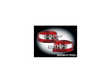 エムイーコーポレーション ZONE LEDテールレンズ レッド/クリアー/レッド タイプ-2 品番:210499 アウディ A3 8P 3dr ~2006年