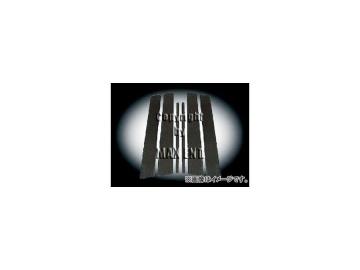 エムイーコーポレーション ZONE リアルカーボンピラーカバー ブラック 品番:251031 フォルクスワーゲン ゴルフ5 5ドア
