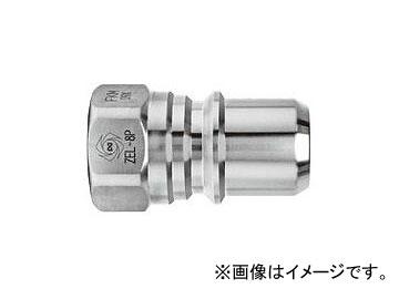 日東工器 ゼロスピルカプラ プラグ おねじ取付用 ZEL-8P BRASS/NBR