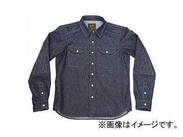 2輪 カドヤ K'S PRODUCT ライドワークシャツ ブルー 選べる5サイズ No.6561