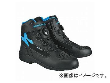 2輪 EXUSTAR ブーツ ブラック/ブルー 選べる6サイズ E-SBT271W