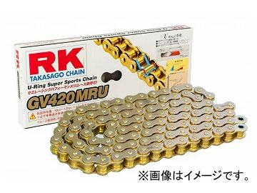 2輪 RK EXCEL シールチェーン GV ゴールド GV420MR-U 134L 80MX