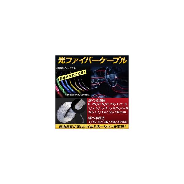 AP 光ファイバーケーブル 丸形モール 径2mm 50メートル 自由自在に美しいイルミネーションを実現! AP-UJ0175-2MM-50M
