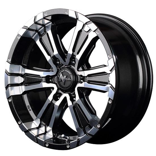 MID NITRO POWER CROSS CLAW ホイール ブラックメタリック+ミラーカット 17インチ×6.5J +48 6H139 国産車 入数:1台分(4本)