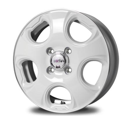 MID MOSH CAT ホイール ホワイト/リム&センターDC 14インチ×4.5J +45 4H100 国産車 入数:1台分(4本)