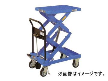 をくだ屋技研/O.P.K 手動式リフトテーブルキャデ 早揚り装置・急降下防止バルブ付 LT-WH500-10