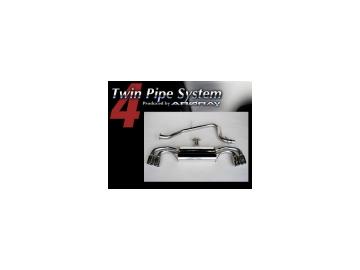 アーキュレー/ARQRAY マフラー ツイン パイプ システム/Twin Pipe System アウディ New TT 2.0 ターボ ABA-8JBWA 【smtb-F】