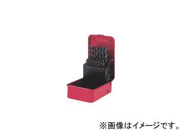 三菱マテリアル/MITSUBISHI 鉄工ドリルセット(スチールケース入り) 19本セット SET19