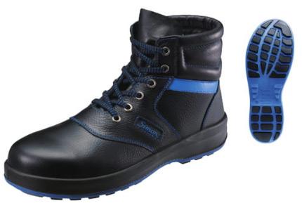 シモン/Simon 安全靴 SX3層底 シモンライト SL22-BL 黒/ブルー サイズ:23.5~28