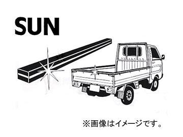 <title>送料無料 大好評です SUN サン 軽トラック用荷台パネルカバー シルバーライン 1616 入数:10本</title>