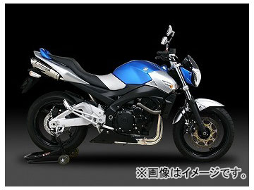 2輪 ヨシムラ マフラー スリップオン Tri-Ovalサイクロン EXPORT SPEC 110-156-5480B STB(チタンブルーカバー) スズキ GSR400 2006年~2010年