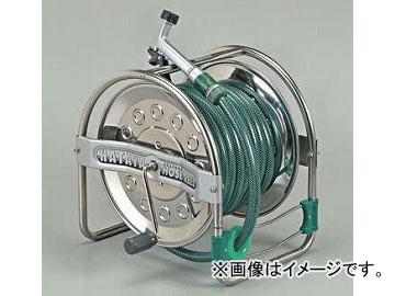 ハタヤリミテッド/HATAYA ステンノホースリール(普及タイプ) 21m防藻ホース・レバーノズル付 SSD-20 JAN:4930510418308 入数:1台