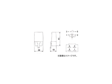ミツバサンコーワ/MITSUBASANKOWA メンテナンスパーツ JISリレー RC-2208 入り数:500個 受注生産