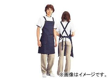 川西工業/KAWANISHI ジーンズ胸当 前掛 タスキ ポケット付 共紐タイプ #651 紺 サイズ:約60×83cm JAN:4906554152713 入数:10枚