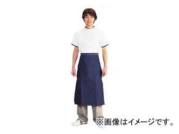 川西工業/KAWANISHI ジーンズ腰下 前掛 サイドポケット付 #655 紺 サイズ:約55×78cm JAN:4906554159910 入数:10枚