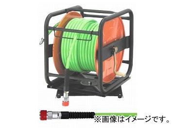 フジマック/FUJIMAC 常圧用B型ドラム(ツーバイホース付) ロック一発カプラ スチール 30m PDZG-8530 JAN:4984546205135