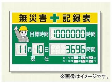 ユニット/UNIT デジタル数字型無災害記録表 品番:315-18