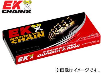 2輪 EK/江沼チヱン シールチェーン QXリング ゴールド 530SRX2(GP,GP) 130L 継手:SLJ ヤマハ FZ1 フェザー