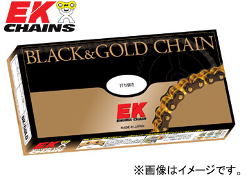 2輪 EK/江沼チヱン シールチェーン QXリング ブラック&ゴールド 525SRX2(BK,GP) 104L 継手:MLJ ドゥカティ ハイパーモータード796