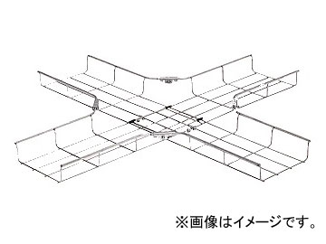 未来工業/MIRAI ミラメッシュ 十字形分岐ラック キット品 溶融めっき仕様 SRM6X-K40D 1125×1125mm
