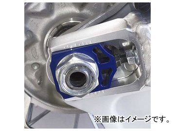 2輪 ワークスコネクション アクスルブロック WC17-030 ブルー ヤマハ WR250R/X 2008年~2010年